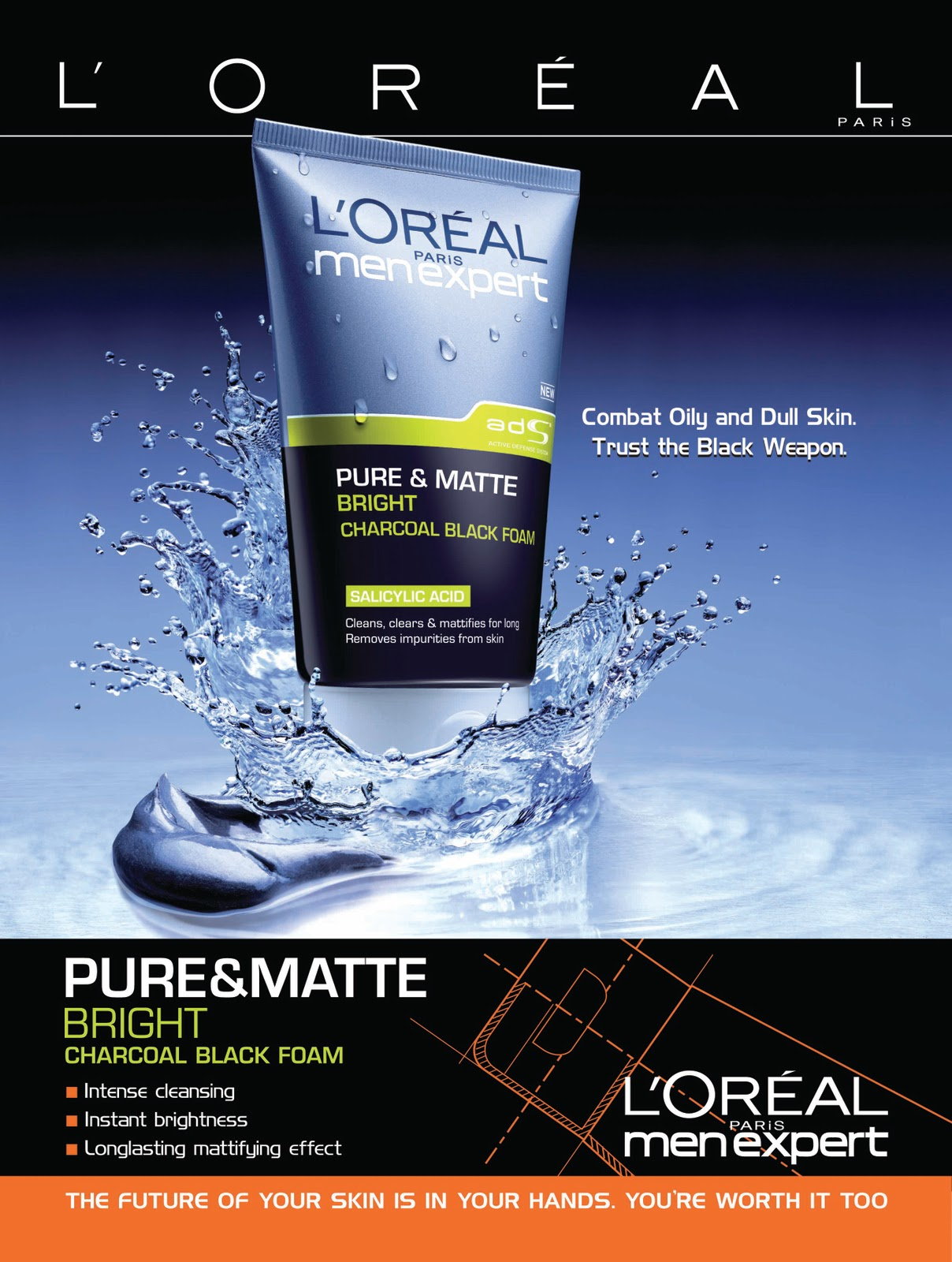 loreal pure and matte charcoal black scrub review